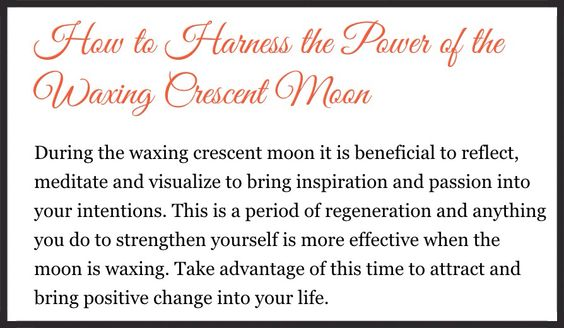 Waxing Crescent Harness its power